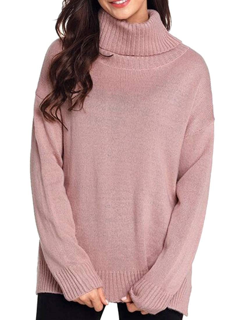 Gocgt Mens Casual Long Sleeve Knitted Sweaters Turtleneck Pullovers
