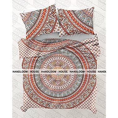 Indian Duvet Doona Cover Comforter Mandala Hippie Bohemian Queen Size Quilt Coverby Handloom House