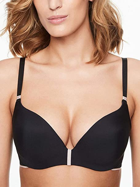 Chantelle DE Absolute Invisible, Sujetador con Push-up Mujer, Negro (Schwarz 11
