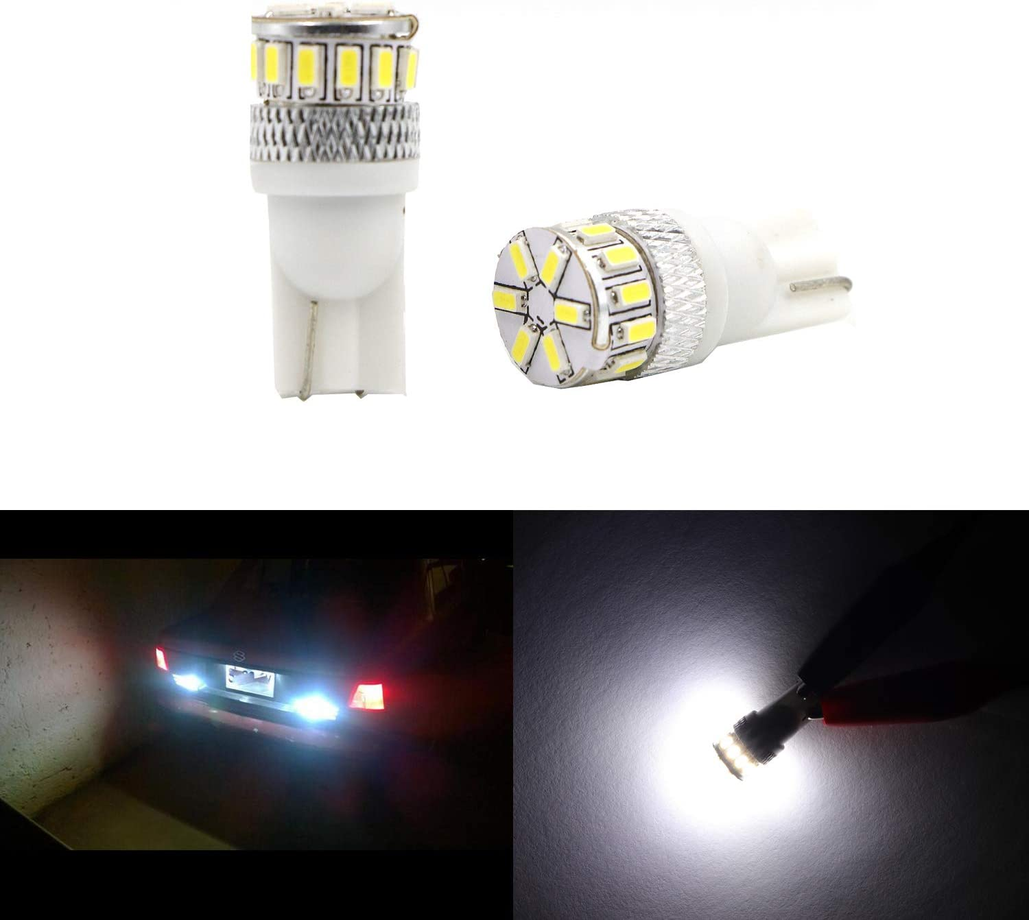 Car License Plate Interior Door Map Dome Light Extremely Bright 168 194 178 2825 T10 Wedge 18pcs SMD 18W White Trunk Light