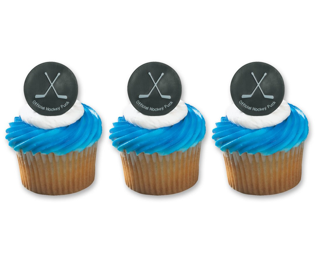 Hockey Puck Ring Cake Cupcake Topper (24-Pack) 24-Pack 4