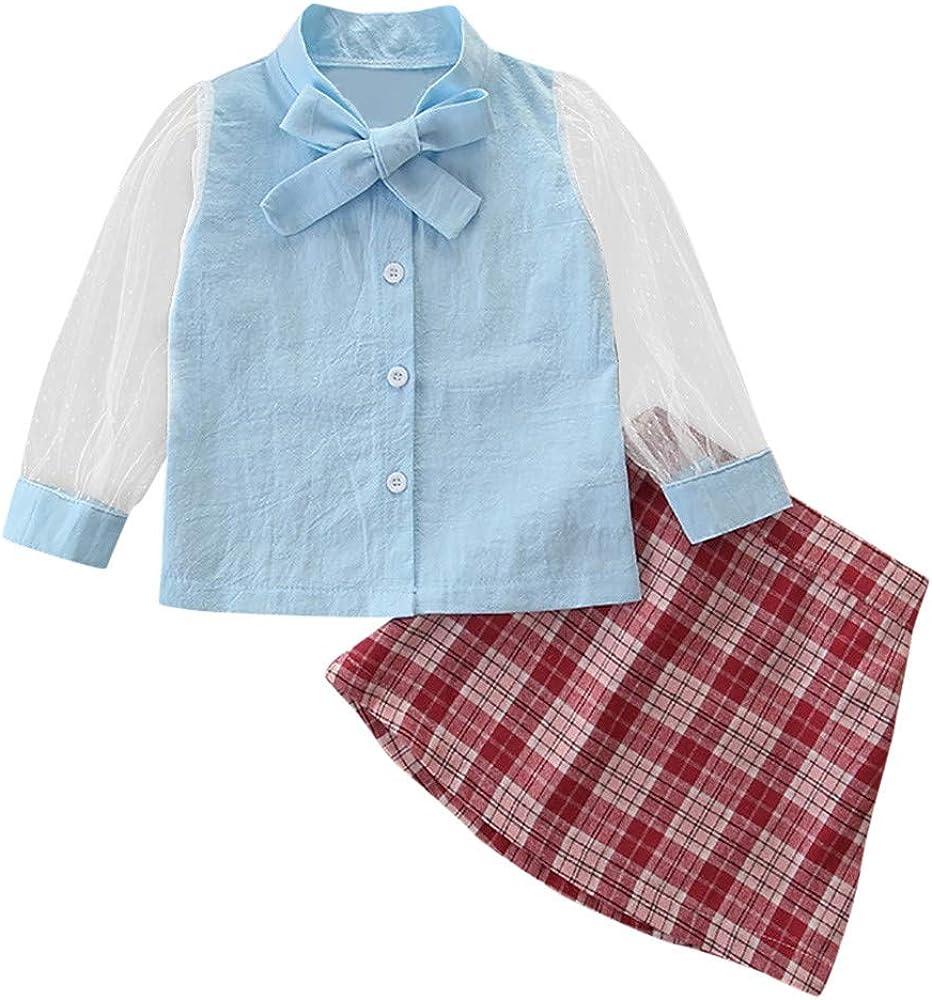 2 Piezas/Set Ropa Bebe Niña Verano Corbata de Moño Camiseta + ...