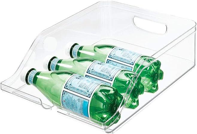 iDesign Guardar frigorífico, Caja de plástico Libre de BPA, Organizador de Botellas para la Cocina, Transparente, 35,6 cm x 26,4 cm x 9,5 cm: Amazon.es: Hogar