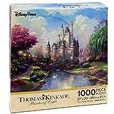 1000 piece puzzles disney castle - Disney Parks A New Day at the Cinderella Castle Thomas Kinkade 1000 Piece Jigsaw Puzzle