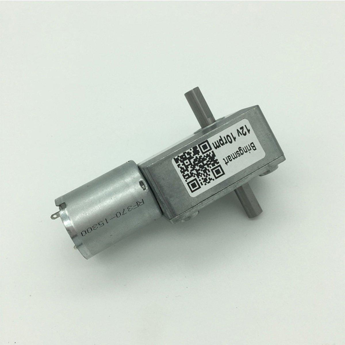 Bringsmart 6V Double Shaft Gear Motor 12V 24V DC Dual Output Shaft Reducer Self-lock (JGY-370 6V 6rpm) by Bringsmart (Image #1)