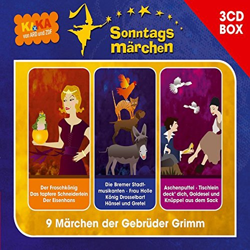 KI.KA Sonntagsmärchen - Hörspielbox: 9 Märchen der Brüder Grimm (Hörspielboxen)