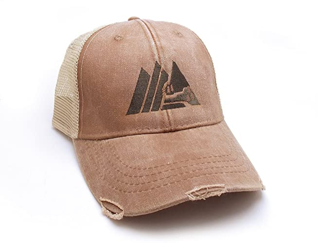 7eff265cd6566 Image Unavailable. Image not available for. Color  Trucker Hat - Retro  Mountain - Men s Distressed Mesh ...