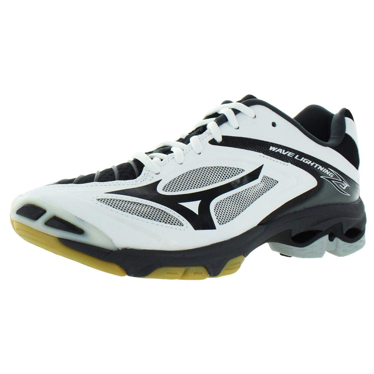 Mizuno Mens Wave Lightning Z3 Lace-Up Volleyball Shoes Black 11.5 Medium (D) by Mizuno