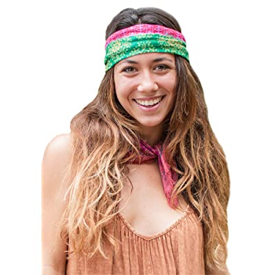 Red Gold Green Half Boho Bandeau at Women's Clothing store
