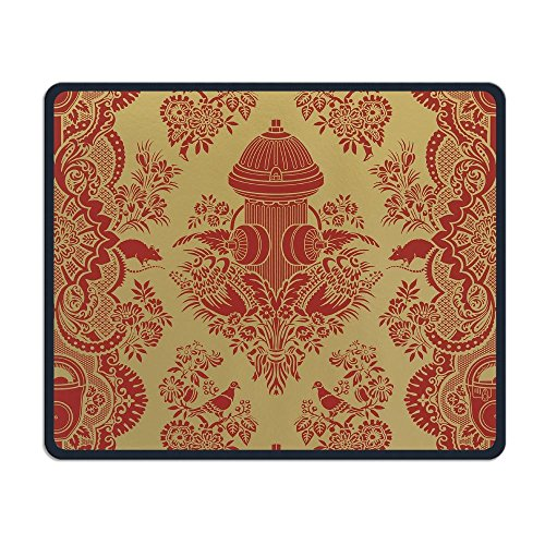 Rubber Hydrant - Computer Gaming Mouse Pad Fire Hydrant Txeture Laptop Pad Non-Slip Rubber Stitched Edges 11.8 X 9.8 Inch