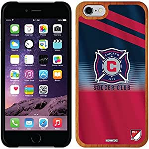 fashion case iphone 5c Madera Wood Thinshield Case with Chicago Fire Jersey Design