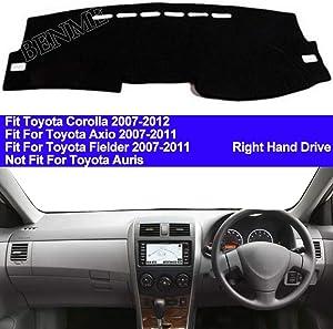 BENME Car Dashboard Cover Dash Mat for Toyota Corolla Axio Fielder 2007 2008 2009 2010 2011 Auto Non-Slip Pad Sun Protector Carpet with Right Hand Drive