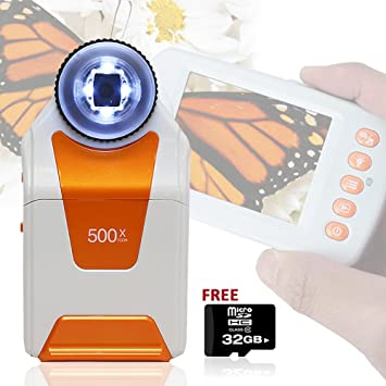Amazon.com: Indigi móvil lupa Microscopio Digital 500 x Zoom ...