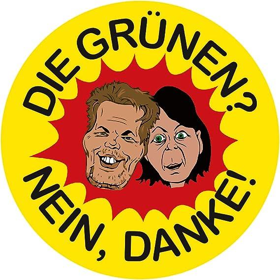 Aufkleber Sticker Die Grünen Nein Danke Sticker Set 10 Stück Habeck Baerbock Diesel Fahrverbot Klimawandel Co2 Steuer Auto
