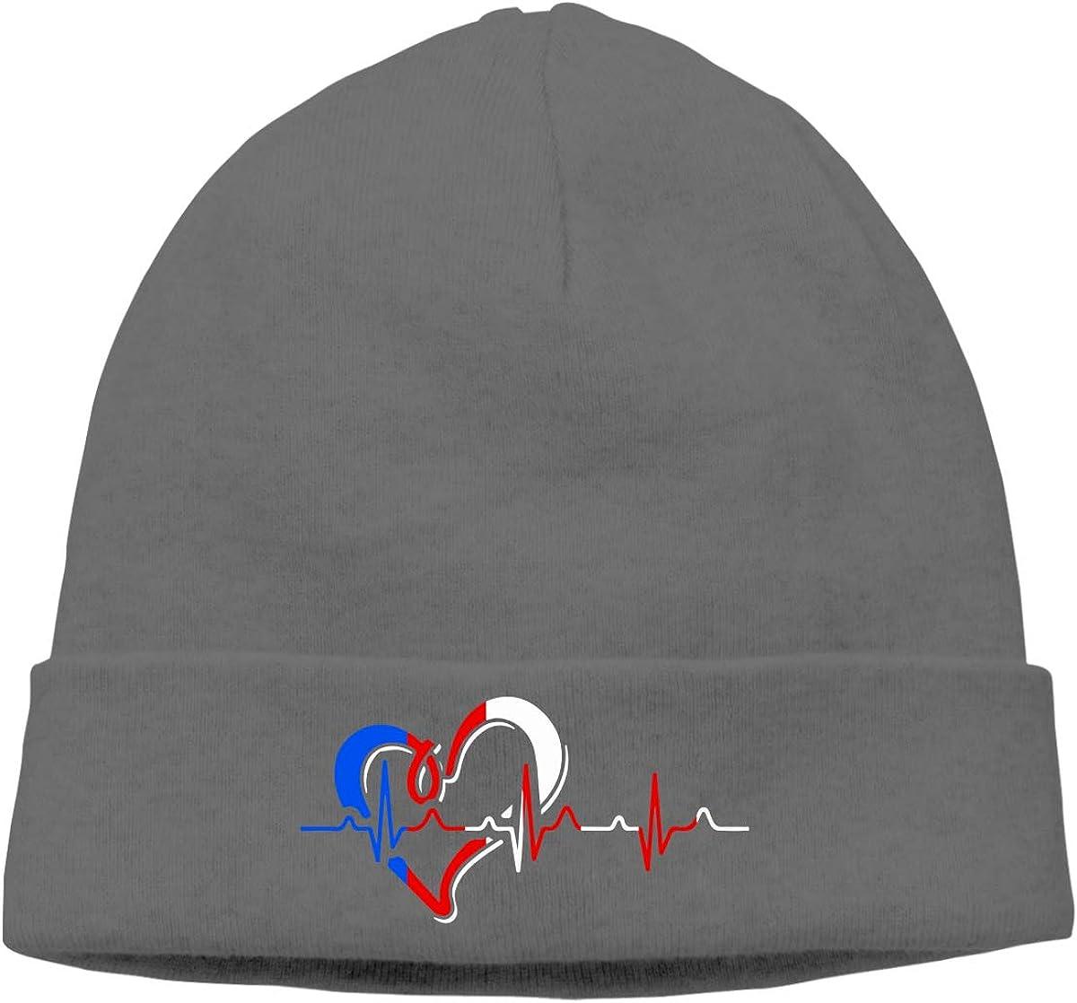 Unisex Puerto Rican Heartbeat Soft Beanie Hat