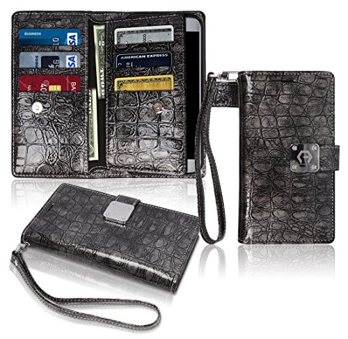 s7-wallet-case-glossy-9-pockets-for-6-id-credit-card-3-cash-slots-power-magnetic-clip-with-wrist-str