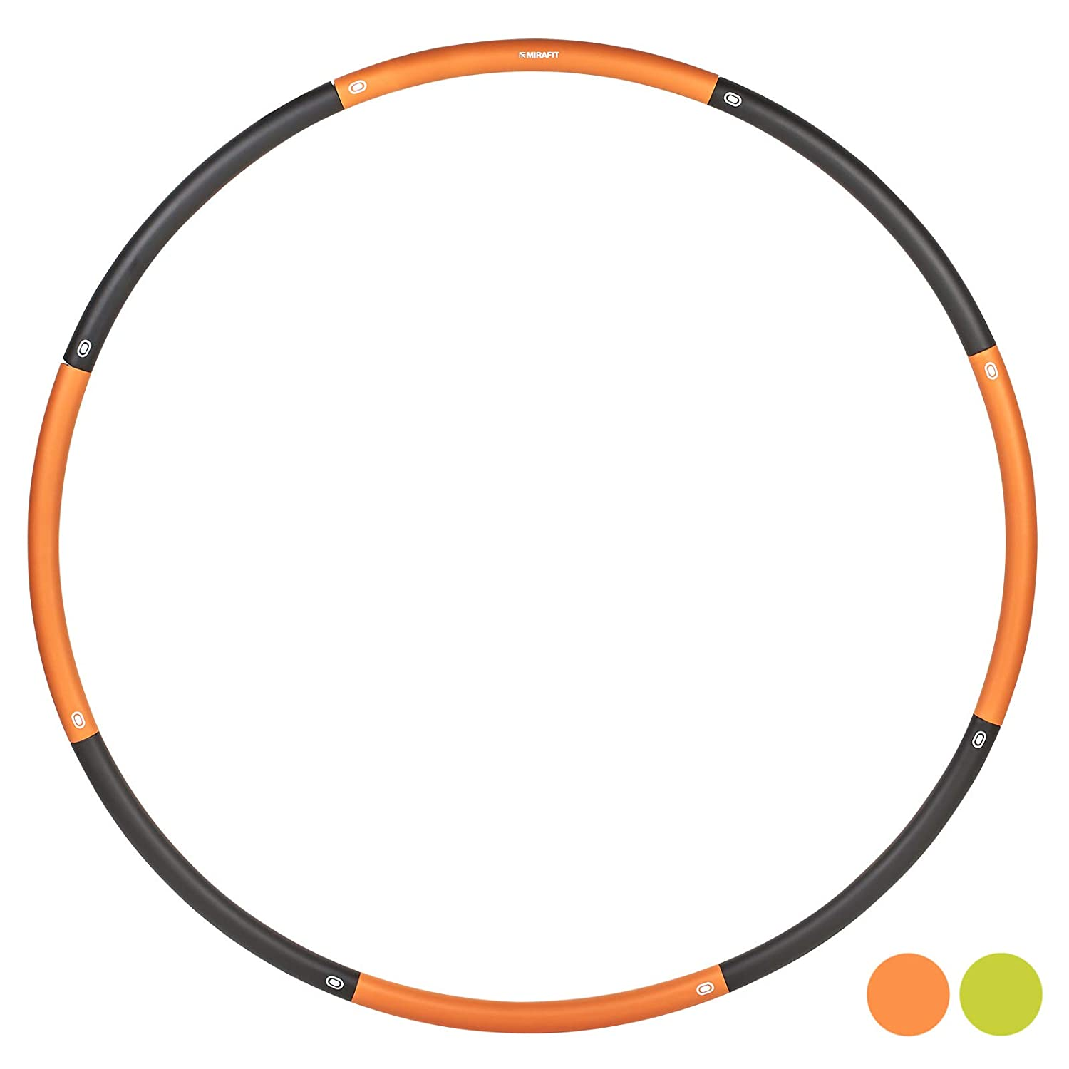 Mirafit Smooth Weighted Hula Hoop - Choice of Colour