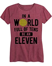 PiePieBuy Women's in A World Full of Tens Be an Eleven Tee Tops Stranger Things Short Sleeve T Shirts