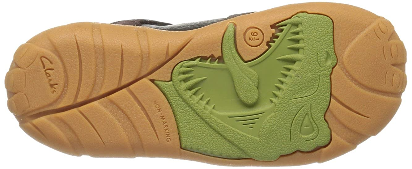 185de28bf37d85 Clarks Childrens StompoJaw Inf Brown Leather Child UK 8 G  Amazon.co.uk   Shoes   Bags