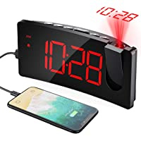 Mpow Reloj Despertador Digital Despertador Proyector con Puerto