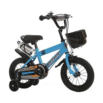 JianMeiHome Bicicleta para niños Bicicleta para niños 18 Pulgadas Bicicleta de Pedales 3-12 años con Ruedas auxiliares: Amazon.es: Deportes y aire libre