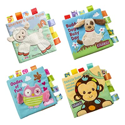 TOYANDONA 4 Pieces Baby Cloth Book Soft Fabric Books Early Educational Preschool Learning Book for Children Toddler: Toys & Games