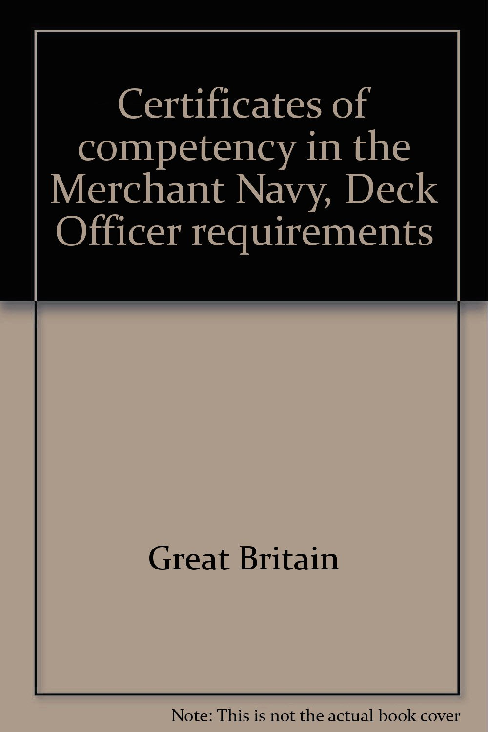 Certificates of competency in the Merchant Navy, Deck Officer