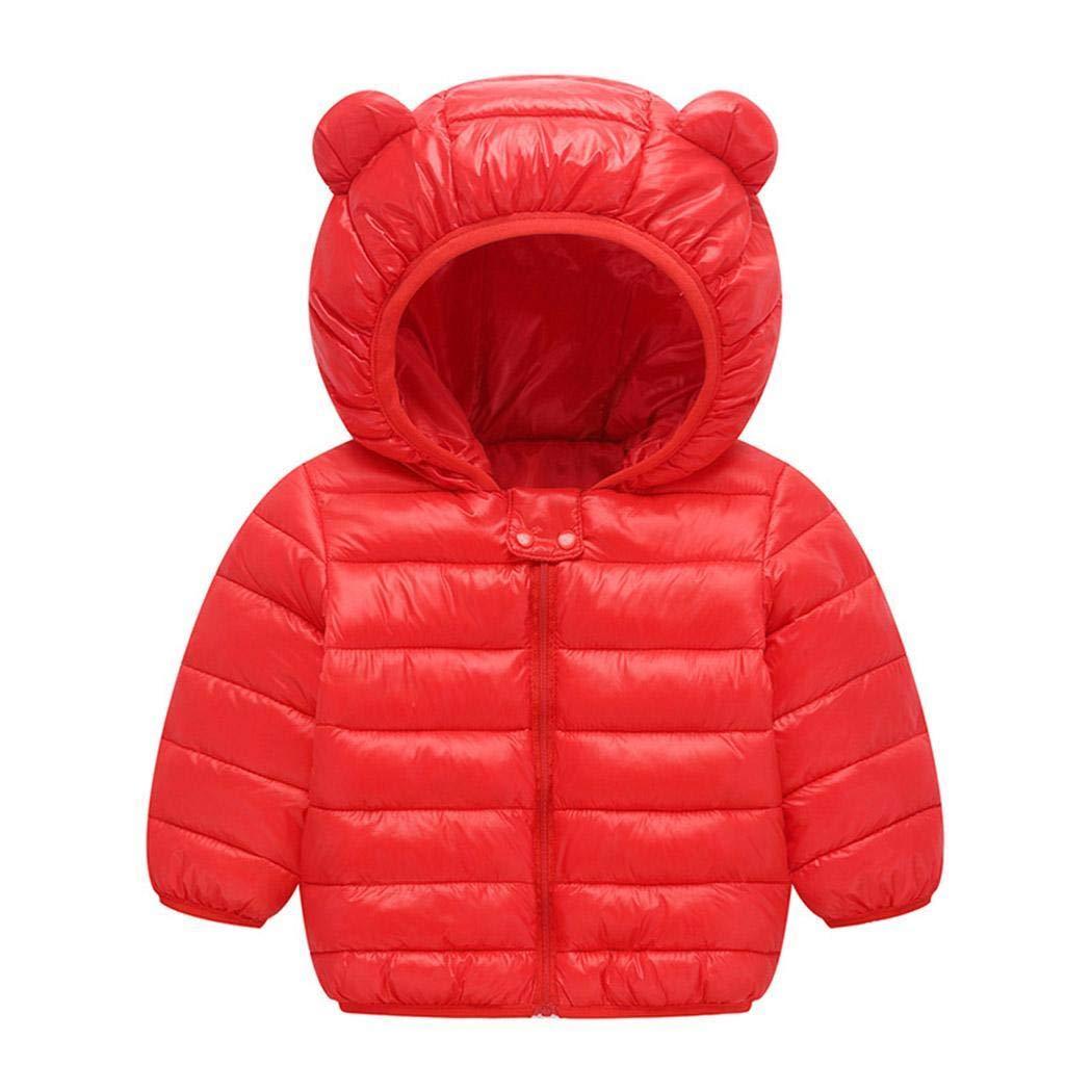 YAGAIU Piumino da Bambina Spesso con Cappuccio Manica Lunga Invernale con Cappuccio Bambina e Bambino Cappotti