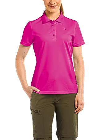 Maier Sports Damen Polo Ulrike T-shirt,Rosa (Fuchsia Purple), Gr