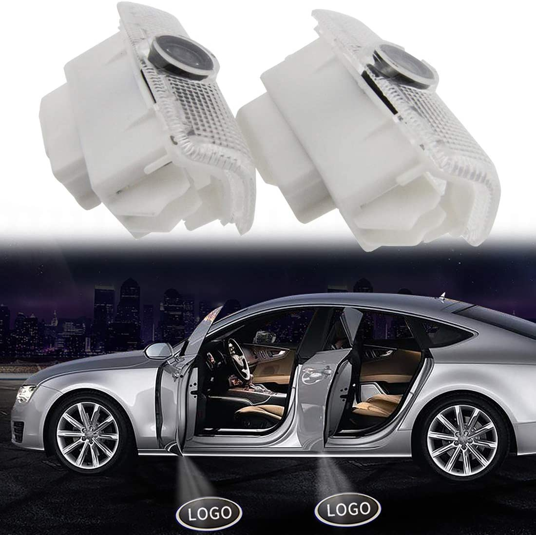 4 Pack CHUNLING for Nissan Altima Car Door Lights Projector Shadow ...