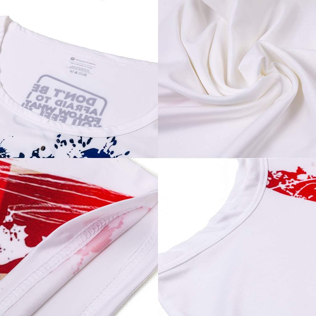 Mens Summer Tank Tops Vest Men Fitness Print Sleeveless Tight-Drying Vest
