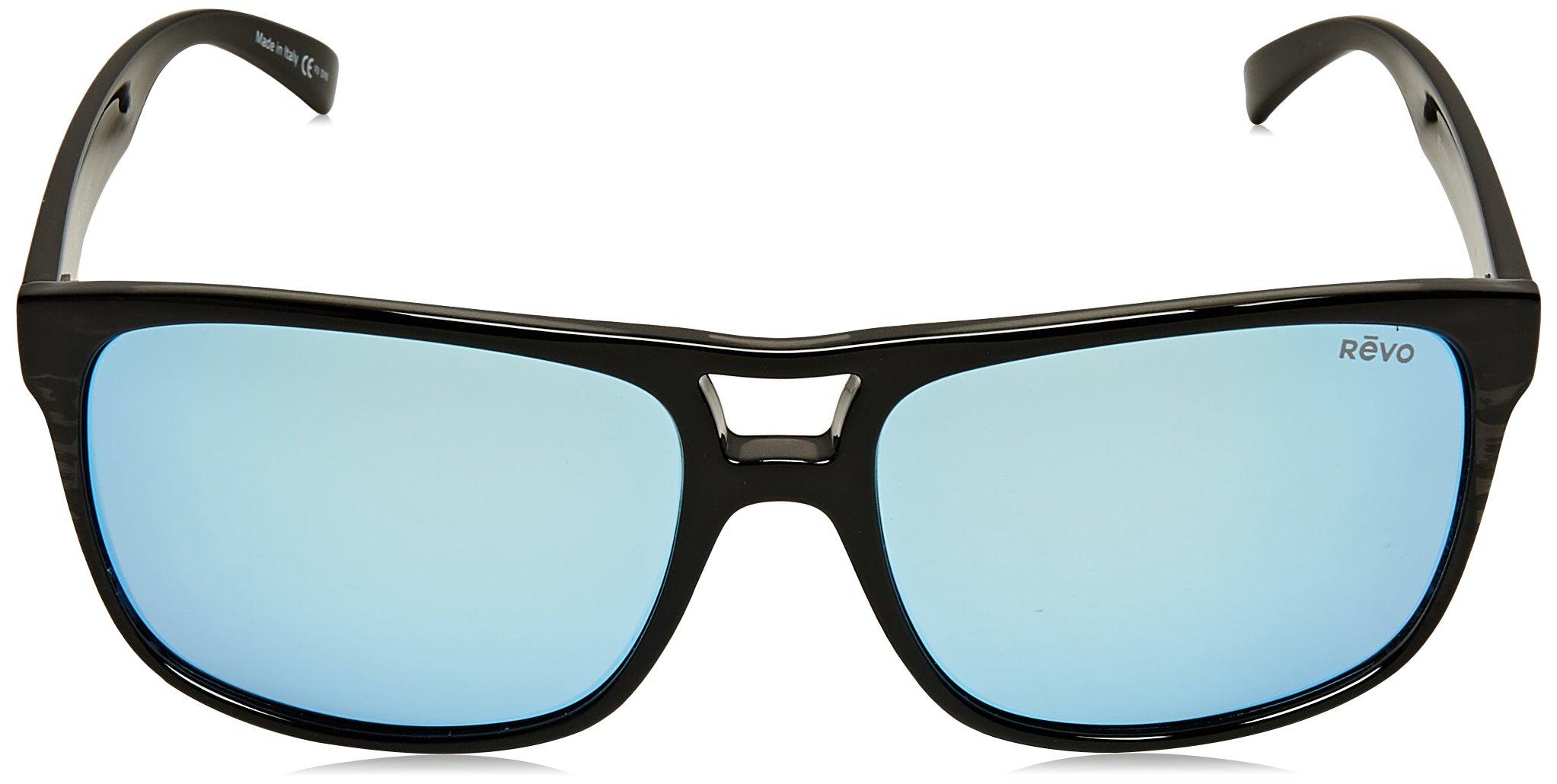 Revo Holsby Style and Performance Polarized Sunglasses, RE1019, Black Woodgrain, 58 mm by Revo Sunglasses (Image #2)