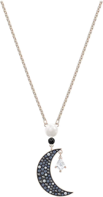 SWAROVSKI Crystal Authentic Symbol Rose Gold Plated Dark Multi Pendant Necklace