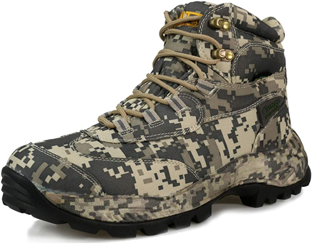 cunge Men s Camouflage Hunting Boots Mid Waterproof Hiking Boots Trekking Shoes Outdoor Boots
