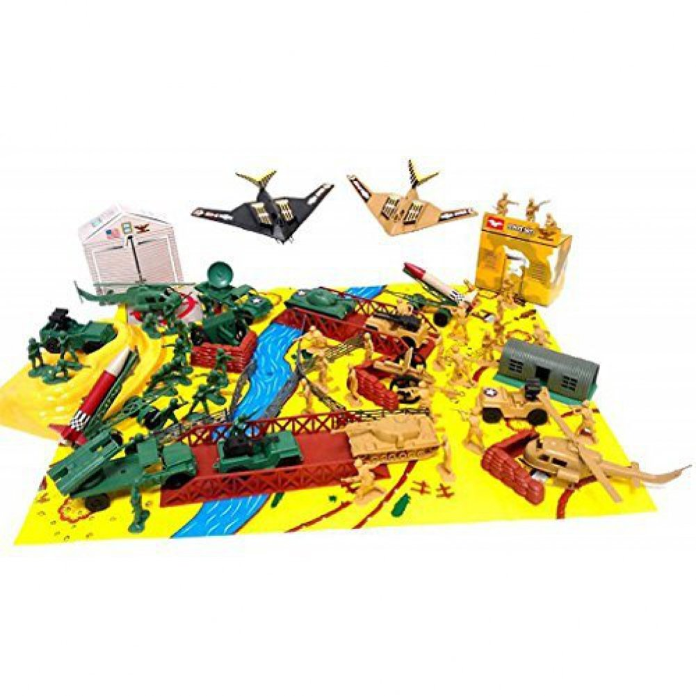 Amazon.com: 150+ Army Military Play Set Soldiers Missiles Tanks ...