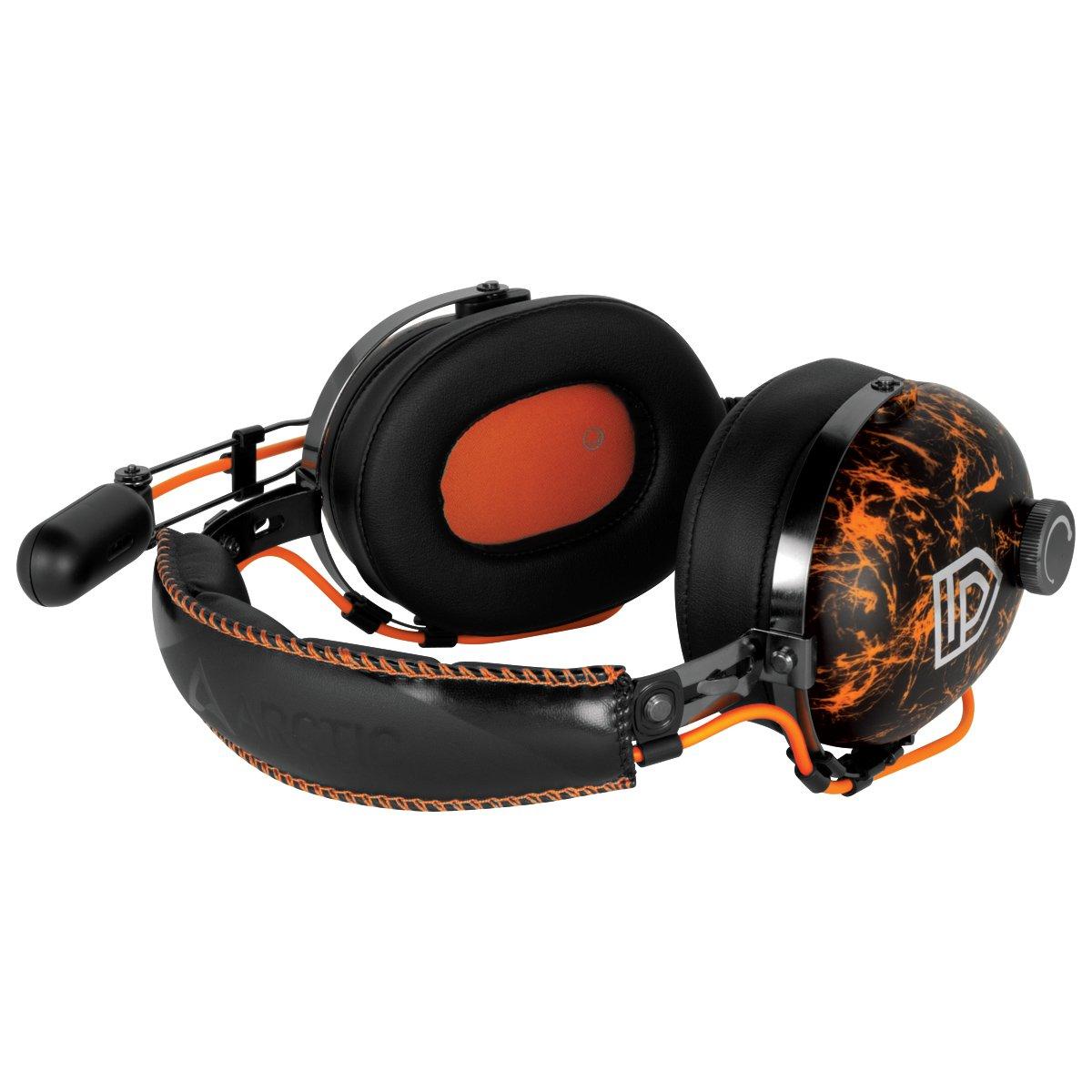 Basses fortes et aigus nets Accessoire pour jeu Arctic P533 Racing Etanch/éit/é sonore excellente Casque PC Noir et Rouge Microphone int/égr/é