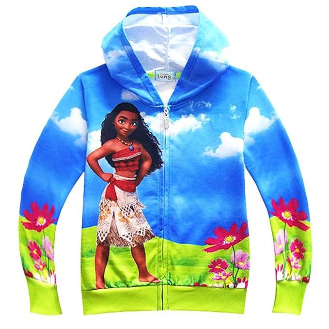 Unisex Moana Camisa con Cremallera Estampado Infantil Cardigan Chaqueta con Capucha Sudaderas Abrigo de Manga Larga: Amazon.es: Ropa y accesorios