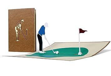 H15 Golf Grusskarte 3d Geburtstagskarte Fur Golfer Golf Geschenk