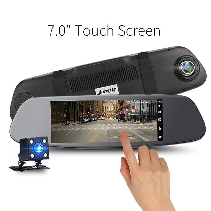 1 opinioni per 17,8cm touch screen Mirror Dual Dash fotocamera 1080p IPS con visione notturna,