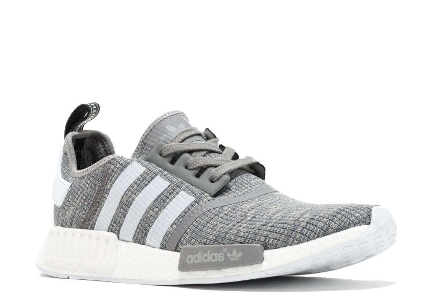 los angeles d1008 60b15 adidas Originals Men's NMD_R1 Glitch Graphic Dark Grey Heather Solid  Grey/Footwear White/Footwear White Athletic Shoe