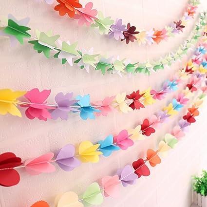BESTIM INCUK Hanging Ball Paper Garland Banner for Wedding