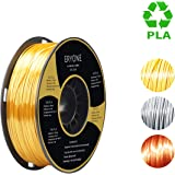 PLA Filament 1.75mm Silk Gold, Silk Silver, Silk Copper, ERYONE 3D Printing Filament PLA for 3D Printer and 3D Pen, 1kg 1 Spool