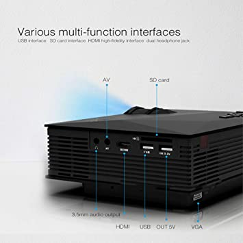 Multimedia Mini Proyector LHZTZKA UC46 LED HD 1080P con la ...