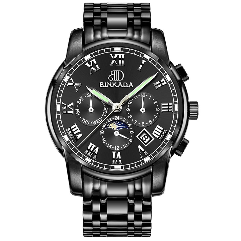 wasserdichte hohlen Herrenuhren-Automatische mechanische Uhren-Multifunktionale leuchtende Uhren-H