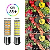 [2-Pack] 6W Ba15d Led Bulb dimmable, 60W Halogen