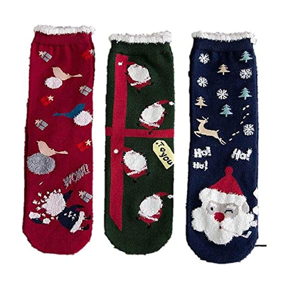 OverDose Ropa Navidad Mejor Venta Calcetines Mujer AlgodóN Lindo Impreso Casual Calcetines Multi-Color Mujer