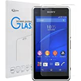 Sony Xperia J1 Compact 強化ガラスフィルム【Qosea】 SONY Xperia Z1 f (SO-02F) / A2 (SO-04F) / J1 compact/Z1 Compact液晶保護フィルム 硬度9H 指紋防止 飛散防止 超薄0.3mm 2.5D ラウンドエッジ加工 (xperia j1 compact/z1 compact/a2, 強化ガラスフィルム)