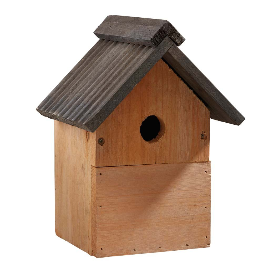 Happy Beaks Wild Garden Bird Box Traditional Wooden Bird House Multi-Purpose Bird Nest Box