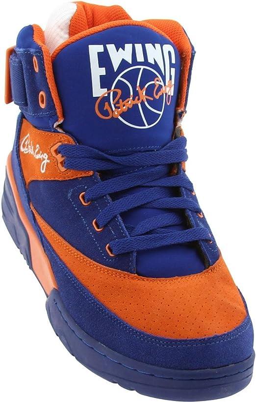 Patrick Ewing 33 HI Zapatillas Sneakers Cuero Gamuza Azul Naranja ...
