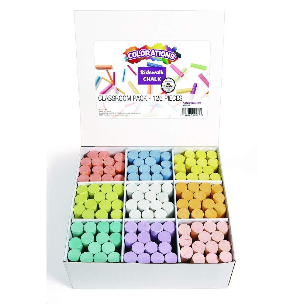 Colorations SCPAK Sidewalk Chalk Classroom Pack by Colorations
